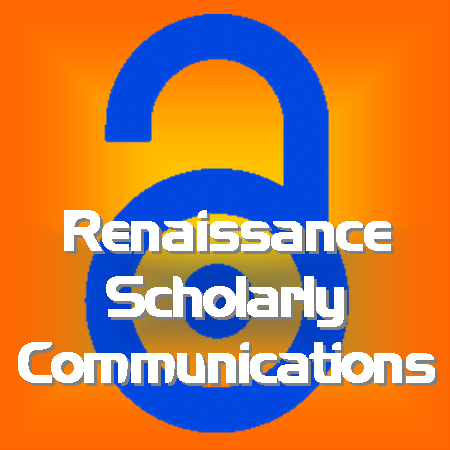 Renaissance Scholarly Communications Logo Vertical orange background square 450x450 2