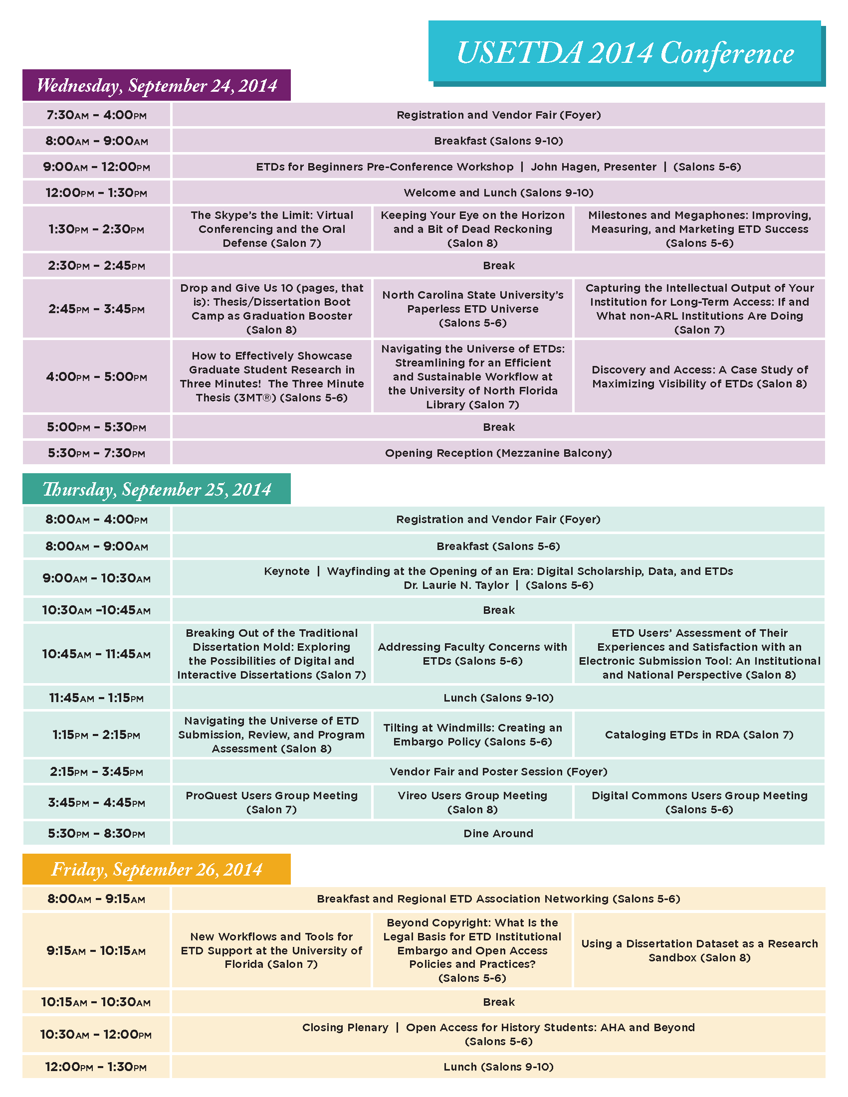 conference summary template