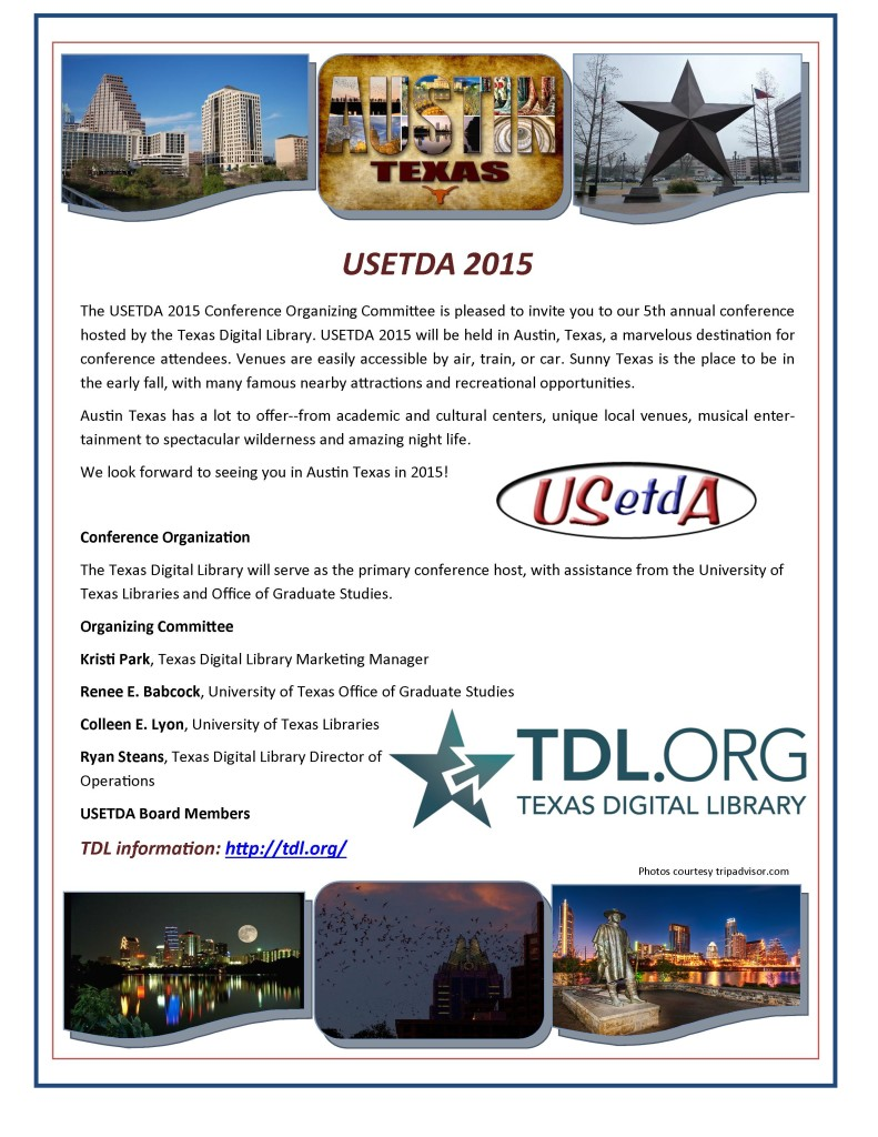 USETDA 2015 Conference Ad