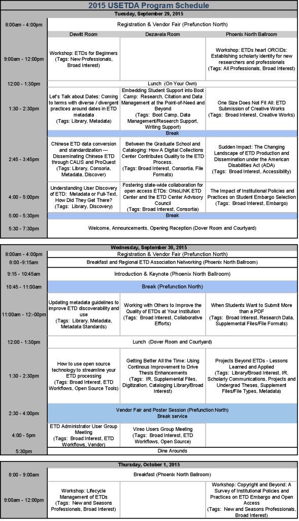 USETDA 2015 Program_Schedule_at-a-glance